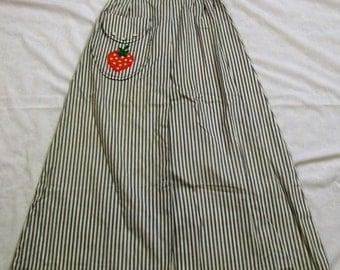 Vintage Skirt, Vintage Maxi Skirt,  Blue and White Skirt, Nancy B of California, Vintage Striped Skirt, 1960s, 1960s Skirt, Long Skirt,
