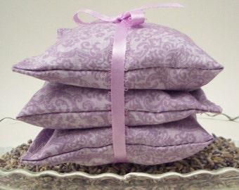 Lavender Sachets -  Damask Aromatherapy Lavendar Sachet Bags