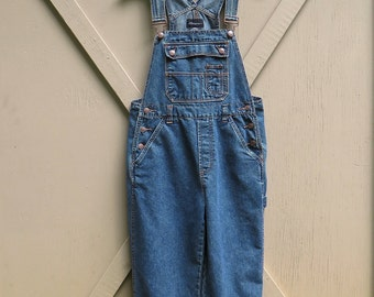 90s vintage Dark Blue Denim Bib Overalls / No Boundaries