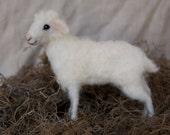 Needle Felted Lamb, Sheep, Poseable