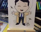 Original drawing ACEO Castiel And His Bees