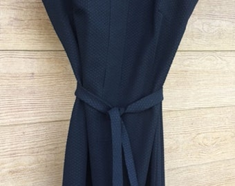 Jerrie Lurie Vintage Black Sleeveless Double Knit Dress
