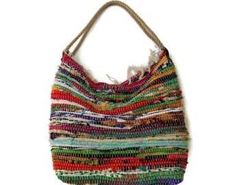 Hobo Kilim Shoulder Bag. Bright Colors. Large Boho Beach Bag. Fabric Shopping Bag. Boho Tote Bag. Colorful Bag.  Hippie Bag. Womens Gift