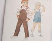 1439  Kwik Sew Pattern       Boy's Overalls    Sizes   4  5  6  7