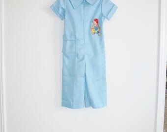 Vintage Light Blue Paddington Bear Outfit