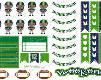 Seattle Football Planner Stickers