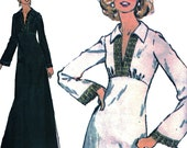 High-Waisted Maxi-Dress! Vintage ©1974 McCall's Sewing Pattern 4295, Misses' Dress or Top and Pants, Size 18, Uncut with Factory Folds
