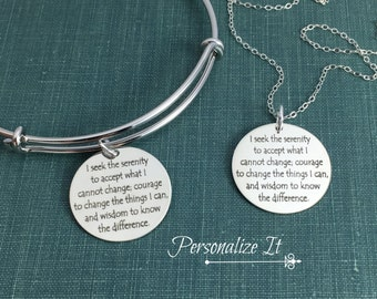 Serenity prayer bracelet solid sterling silver not plated serenity prayer jewelry serenity prayer necklace serenity prayer bracelet serenity prayer sterling mozeypictures Image collections