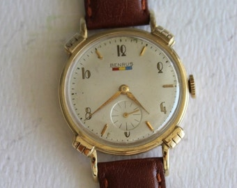 Vintage Benrus Art Deco Style Wrist Watch by avintageobsession on etsy