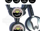 Littmann Stethoscope ID Tag - Personalized Honeycomb Owl Stethoscope Identification in 4 Colors with Name, Monogram, Occupation Title (A173)