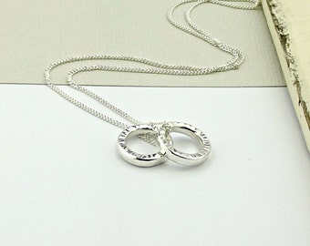 Sterling Silver Ripple Necklace-silver necklace-sterling silver necklace-simple silver necklace-karma necklace-mother's day gift-gift mum-uk