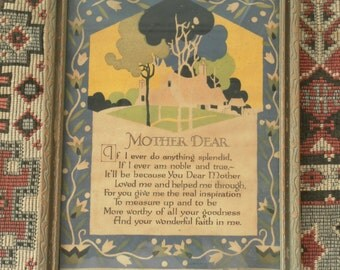 Mother Dear Art Publishers 1930 framed print Mother's Day