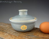 Pottery Egg Cooker in Glossy - Microwave Egg Cooker - by DirtKicker Pottery