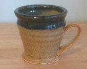 Porcelain glazed mens shaving mug Life is Better free handmade soap too