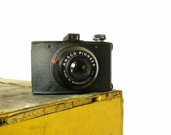 Vintage Box Camera Ansco Pioneer Mid Century Home Office Living Room Shelf Decor Photographer Gift
