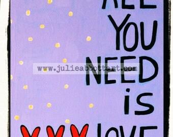 "All We Need Is Love - New!  ""Mini-s"" by Julie Abbott Art"