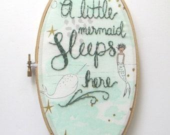 Nautical Nursery Decor, Mint Nursery Decor, Mermaid Nursery, Baby Girl Nursery, Nautical Quote, Nautical Home Decor, Mermaid Decor by KimArt