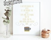 Ode to Gilmore Girls, Coffee, Custom Colors