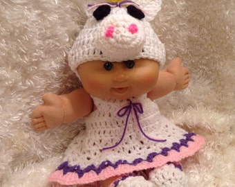 Handmade Clothes  For 14 and 17 Inch Soft bodied dolls.Unicorn Dress Set