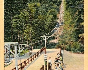 Vintage New Hampshire Postcard - Mount Rowe Chair Tramway, Gilford (Unused)