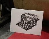 Letterpress Antique Typewriter Card