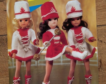 vintage knitting pattern Sindy doll Majorette outfit emu no. 6789