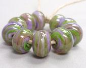 Bigger Fleeting Beauty Swirls  - 10 Handmade Lampwork Beads SW 148