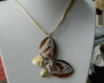 Butterfly Pendants with Champagne