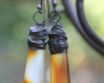 Rustic Fireagate Earrings