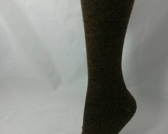 Alpaca Socks, Natural Brown Alpaca Socks,  Alpaca Merino Socks, Home Grown Alpaca, XS to L Shoe Size