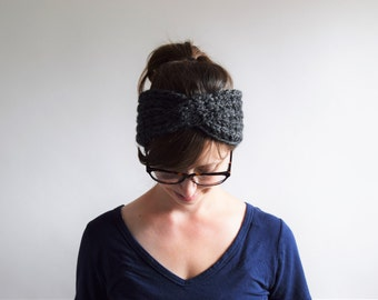 Turban Headband // Knit Headband //  Chunky Knit Headband // Chunky Knits // Knit Turban Headband