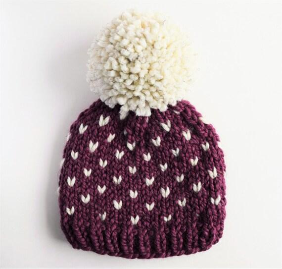 Fair Isle Hats Knitting Patterns : Hat Pattern // Knit Hat Pattern // Toddler Hat Pattern // Fair Isle Hat Patte...
