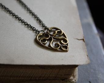 Brass Heart Necklace
