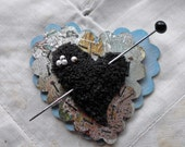 Witches Heart Assemblage Art Brooch