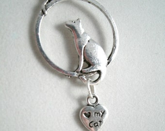 Cat and Mouse Love My Cat Pendant and Earrings Set