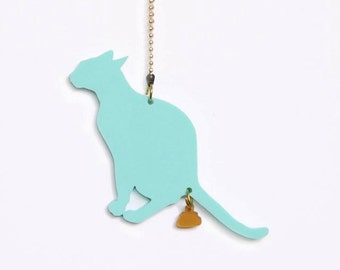Crazy necklace for crazy cat women:) Now available in pastels!