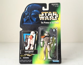 Stormtrooper Vintage Star Wars Figure - 1990's Unopened Kenner Star Wars Figure / Star Wars Kids Toy - Sandtrooper Figure From A New Hope