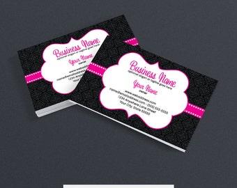 Damask business card | Etsy