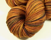 Hand Dyed Sock Yarn - Sock Weight Superwash Merino Wool Yarn - Nutmeg Multi - Knitting Yarn, Hand Dyed Yarn, Autumn Yarn, Fingering