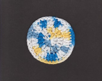 Crochet Bright Sunkissed Round Coasters Set of Four FREE Shipping Continental USA #55