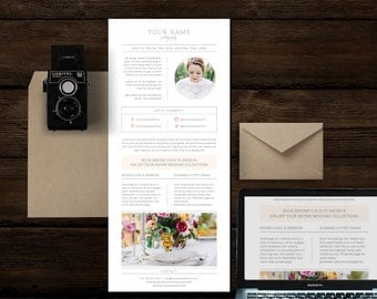 Email Newsletter Template for Photographers & Wedding Planners - Photography Marketing Templates - Magazine Style Newsletter