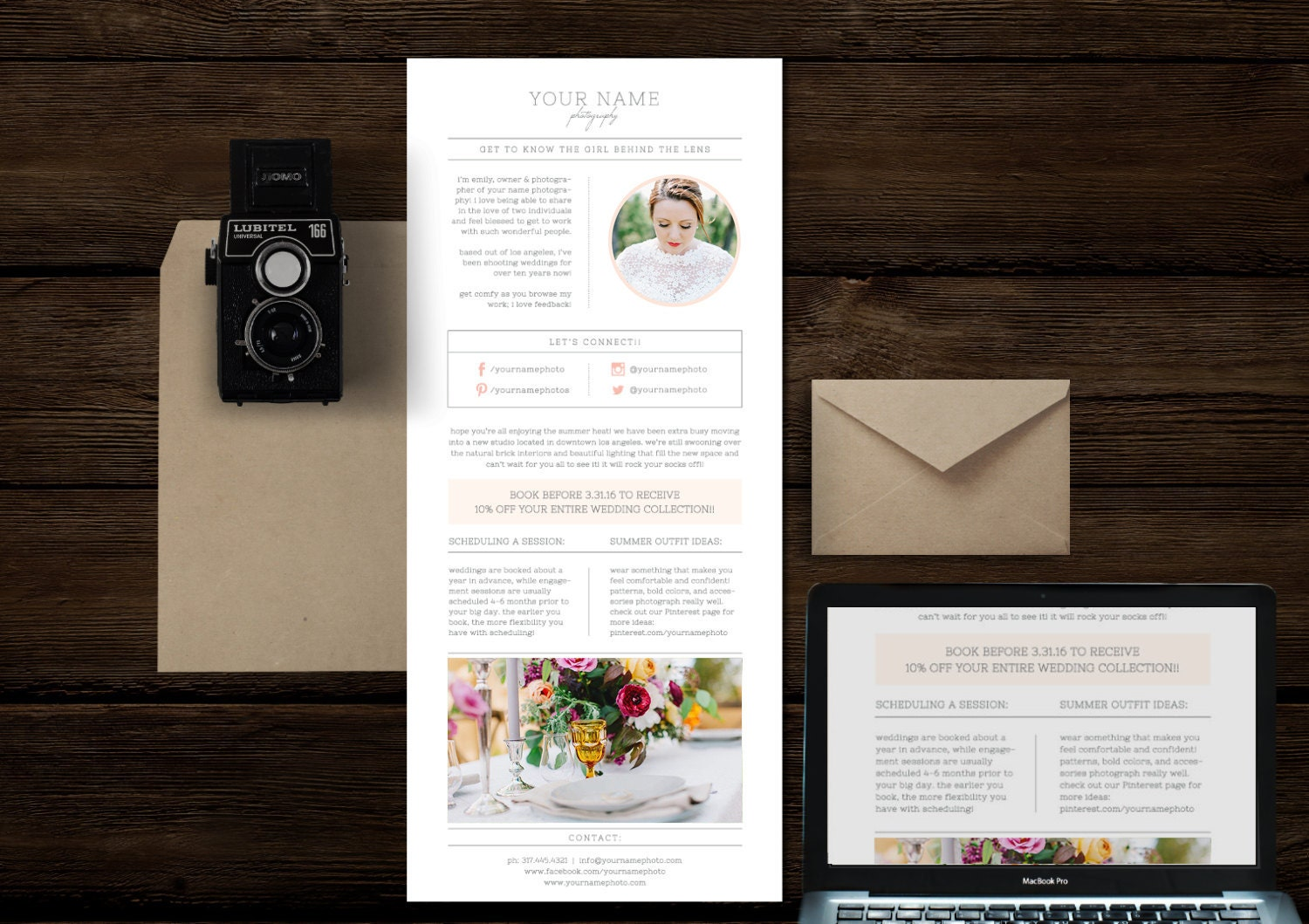 email newsletter template for photographers wedding. Black Bedroom Furniture Sets. Home Design Ideas