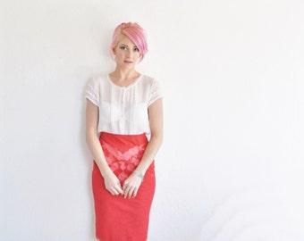 sheer pink ruffle sleeve blouse . blush see through shirt .small .sale