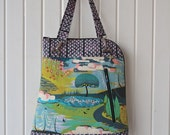 Calla Convertible Backpack in Anna Maria Horner Enchanted Scenery