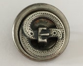 Metal Button with Buckle Motif