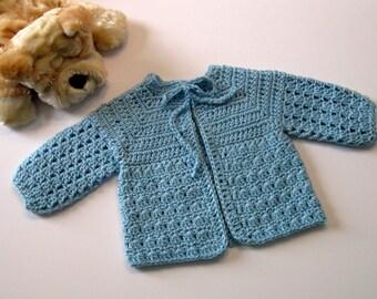 Easy Crochet Baby Boy Hat Patterns : Baby sweater pattern Etsy