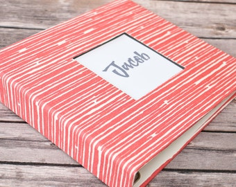 PRE-ORDER // Baby Book, Baby Gift, Baby Album, Baby Memory Book, Baby Keepsake, Modern Baby Book, Coral Lines