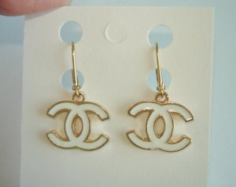 Earrings Dangle White Gold Tone