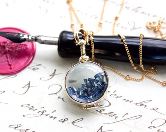 14kt Gold Filled Shake Locket Filled w/Choice of Sapphire, Ruby, or Emerald Baguettes - Eco Friendly