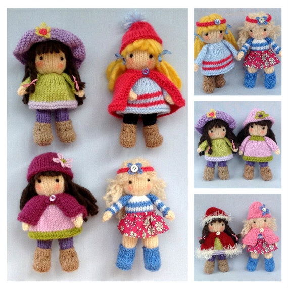 Knitting Patterns Little Dolls : Little Belles Doll knitting pattern INSTANT DOWNLOAD